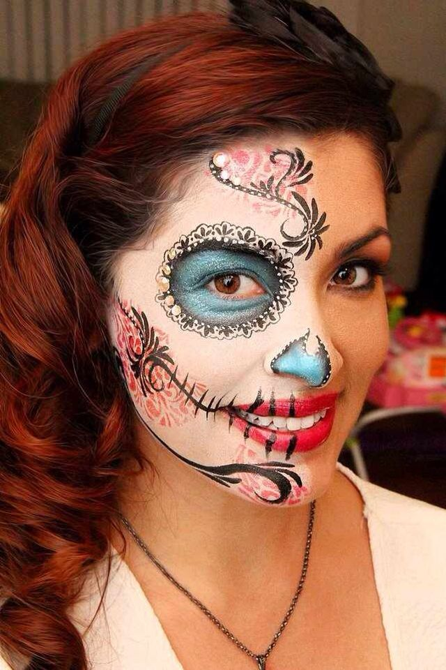 My senior photos will be with my face painted like a sugar skull