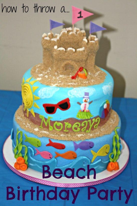 1st birthday beach theme cake Google Search 1st Birthday