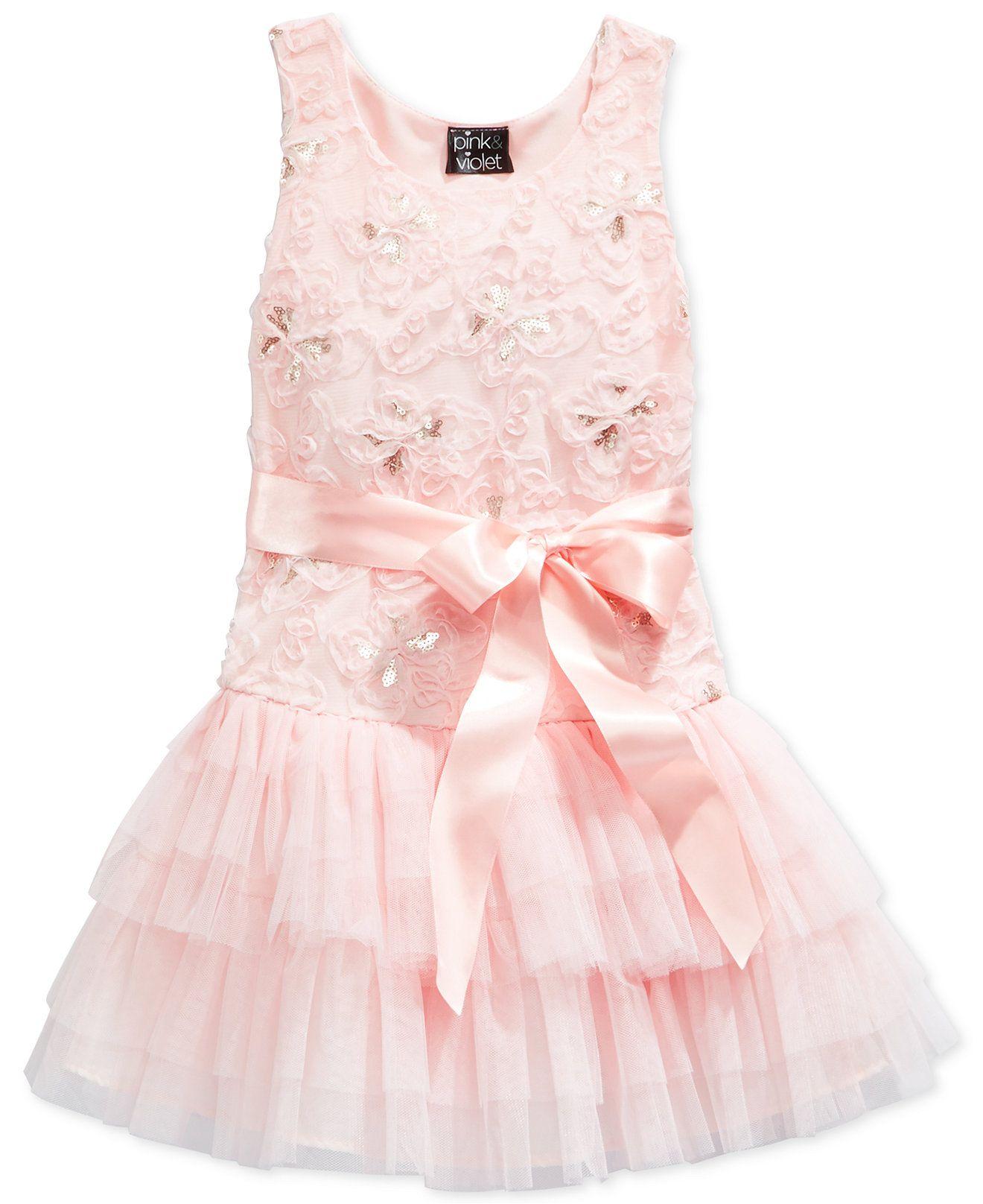 ea23abd76de Pink   Violet Little Girls  Butterfly Soutache Dress - Girls 2-6X - Kids    Baby - Macy s