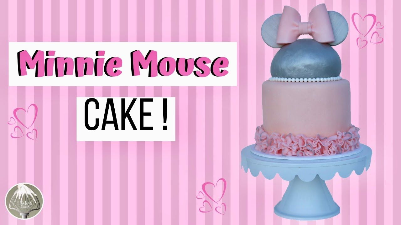 Minnie mouse cake cake decorating for beginners