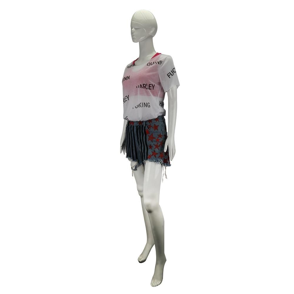Birds of Prey Cosplay Harley Quinn Costume Halloween Outfit T-shirt Full Set