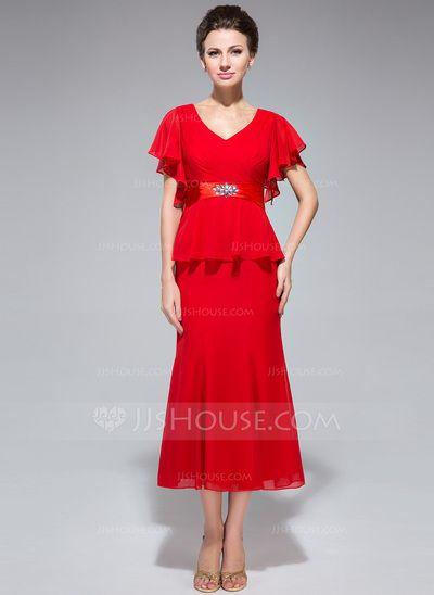 Kleid brautmutter wadenlang
