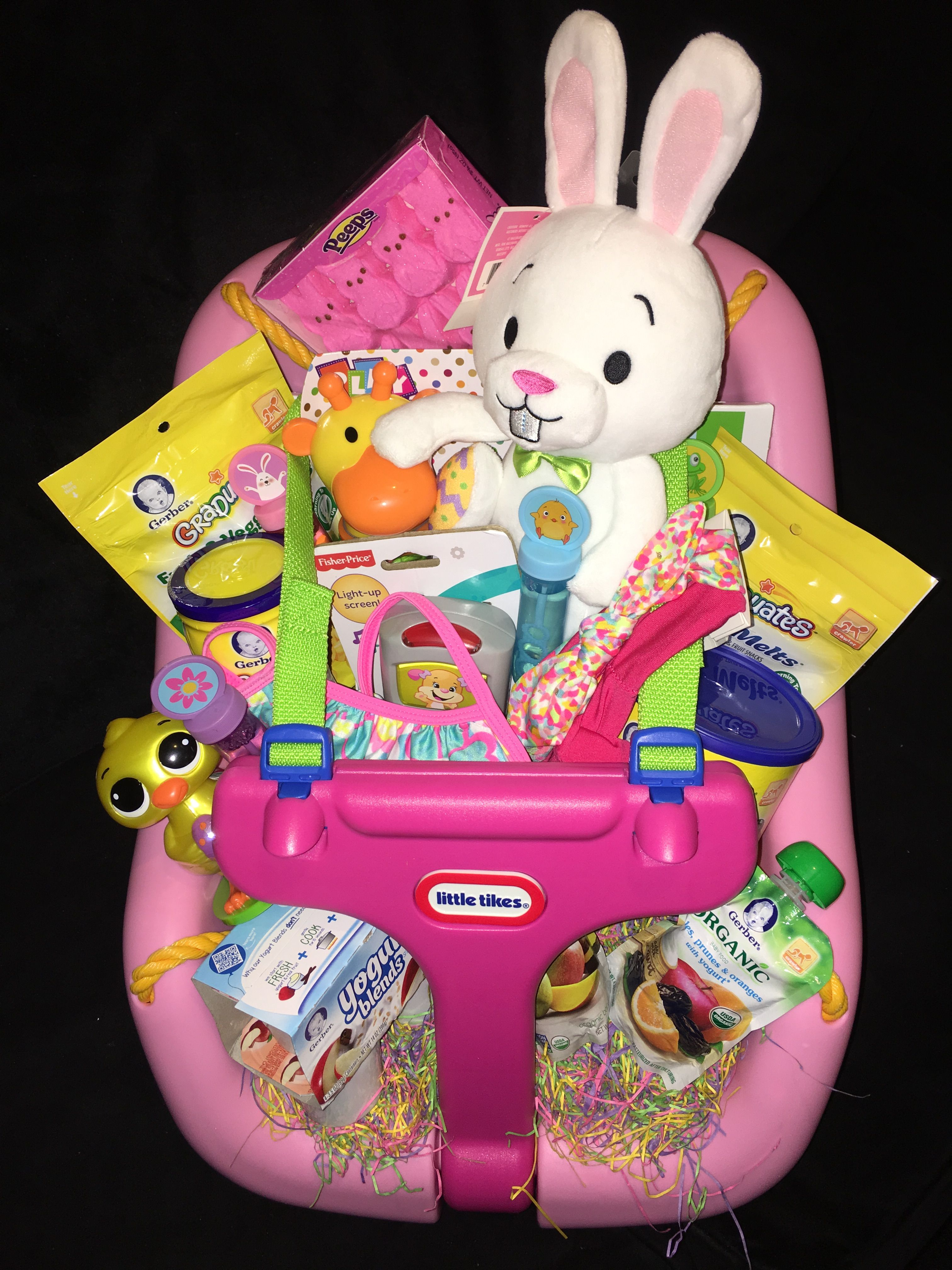 Baby girl first easter basket christmas pinterest easter baby girl first easter basket negle