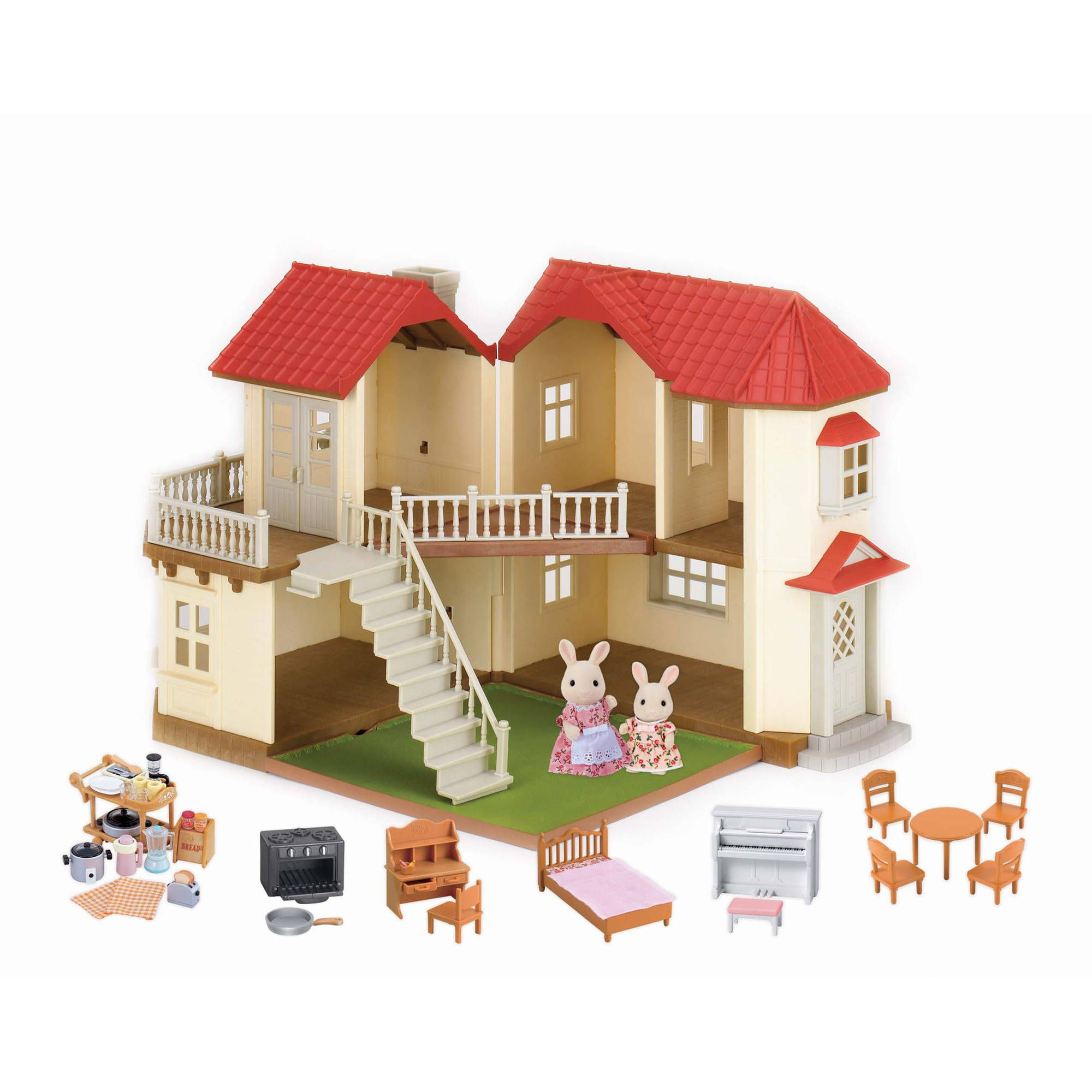 Toys in 2020 Dollhouse furniture, Home gifts, Red roof