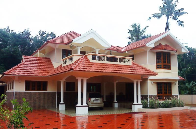 4 bedroom traditional house plans images designs for Indian house photo gallery