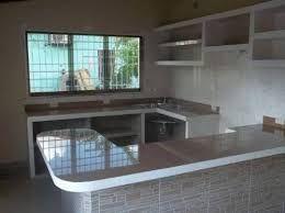 Resultado de imagen para cocina con arco y meson y for Modelos de cocinas empotradas en cemento y porcelanato