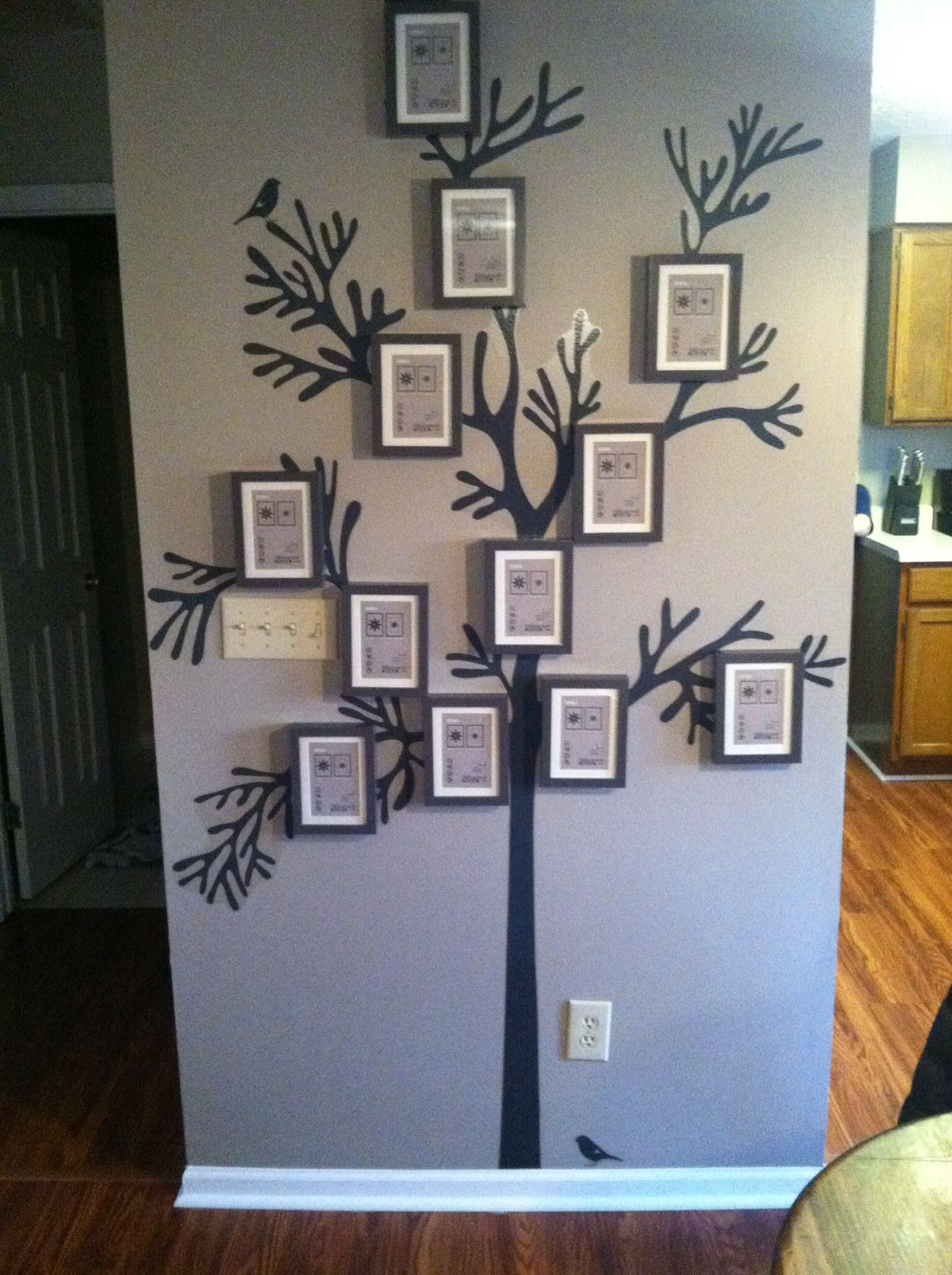 Just put up this Family Tree in the new home. IKEA frames and tree ...