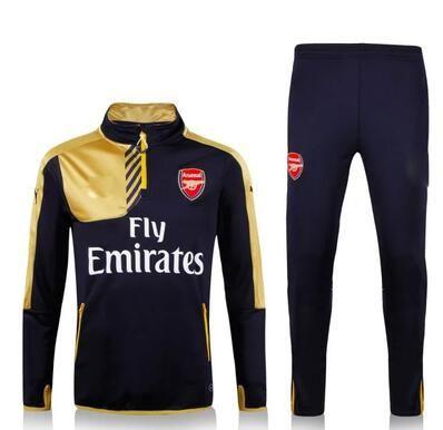 2016 2017 Camisetas Arsenal Chaqueta Dorado  62c21f2ef89ff