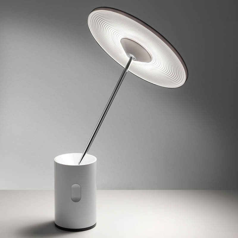 Artemide 1732020A Sisifo LED Accent/Table Lamp in White, 3000K