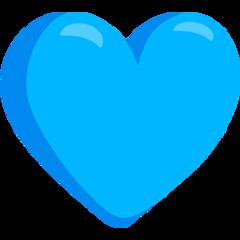 Blue Heart On Messenger 1 0 Blue Heart Emoji Blue Heart Heart Emoji