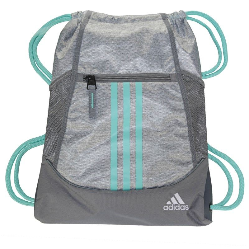 1be484a9f469 Adidas Alliance 2 Drawstring Backpack Accessories (Stone Jersey Aqua)