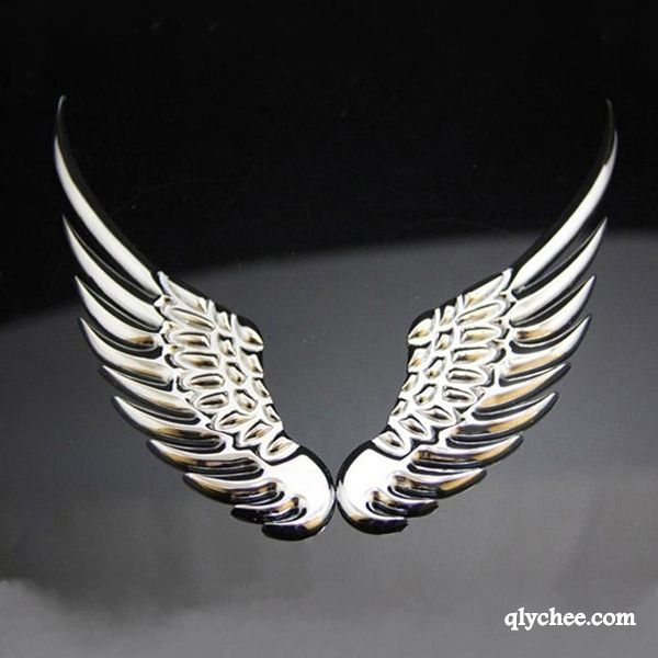"2Pcs Bird Wing Silver RearView Mirror Motor Decal Car Sticker Vinyl 6/""X2/""Graphic"