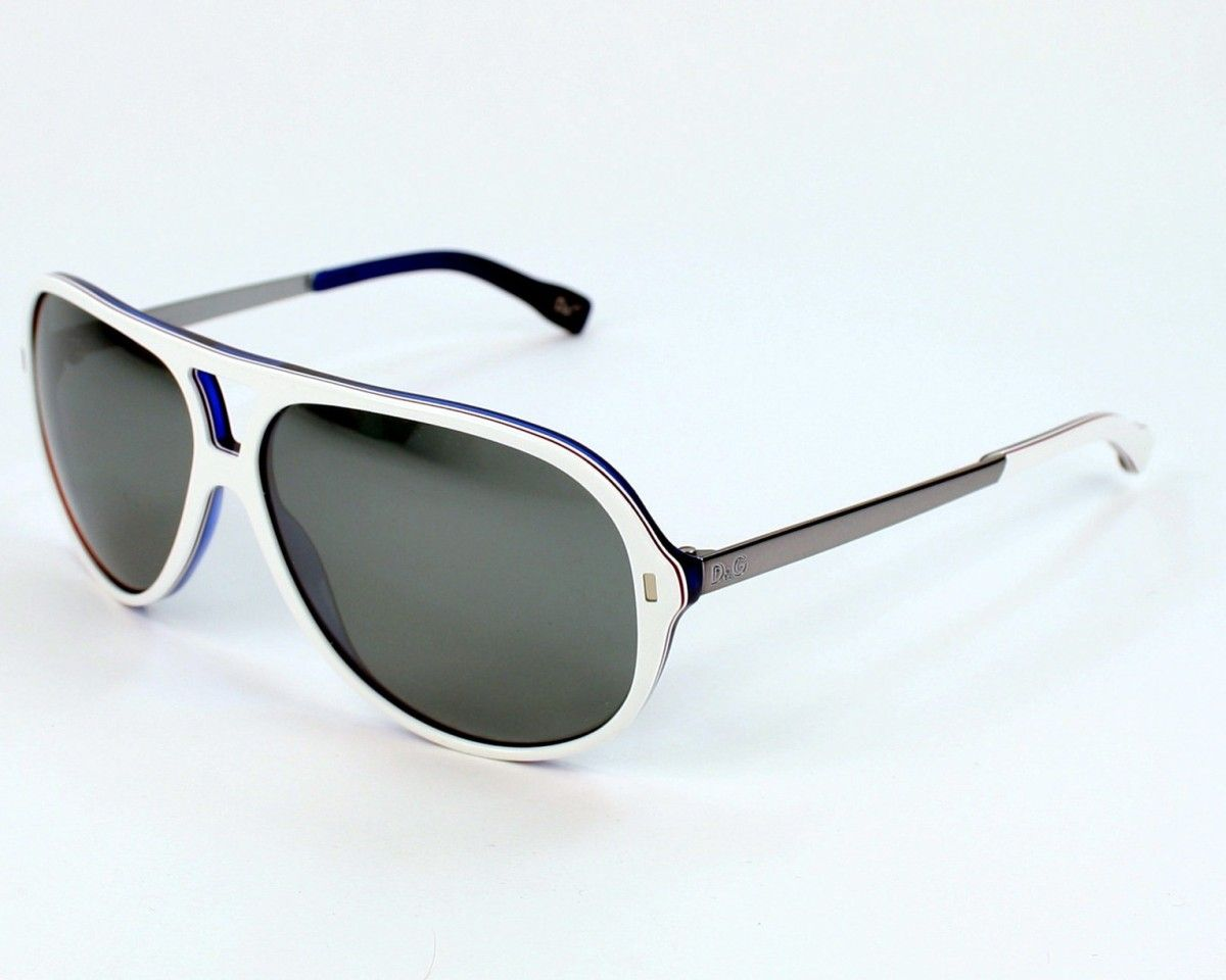 60e0940f62 Dolce Gabbana Mens sunglasses. Reference DD3065 1873/6G - 60, frame in  Metal colour White - Blue with Grey mirror lenses and UV protection: 3.