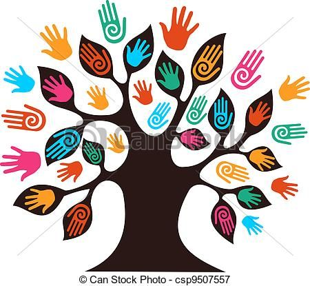 vector isolated diversity tree hands stock illustration royalty rh pinterest com diversity clip art free diversity clip art free images