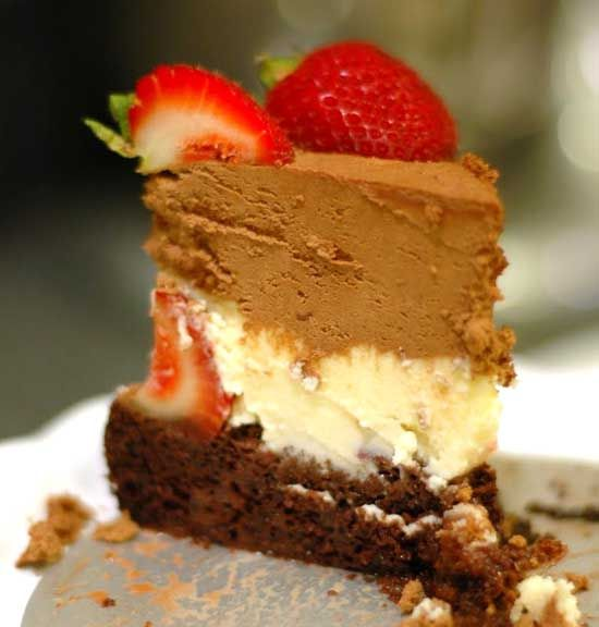 2- Triple Chocolate Mousse Cake With Strawberries Recipe (Father's Day _ Source: http://i-heart-baking.blogspot.com/2011/07/fathers-day-triple-chocolate-mousse.htmlSpecial)