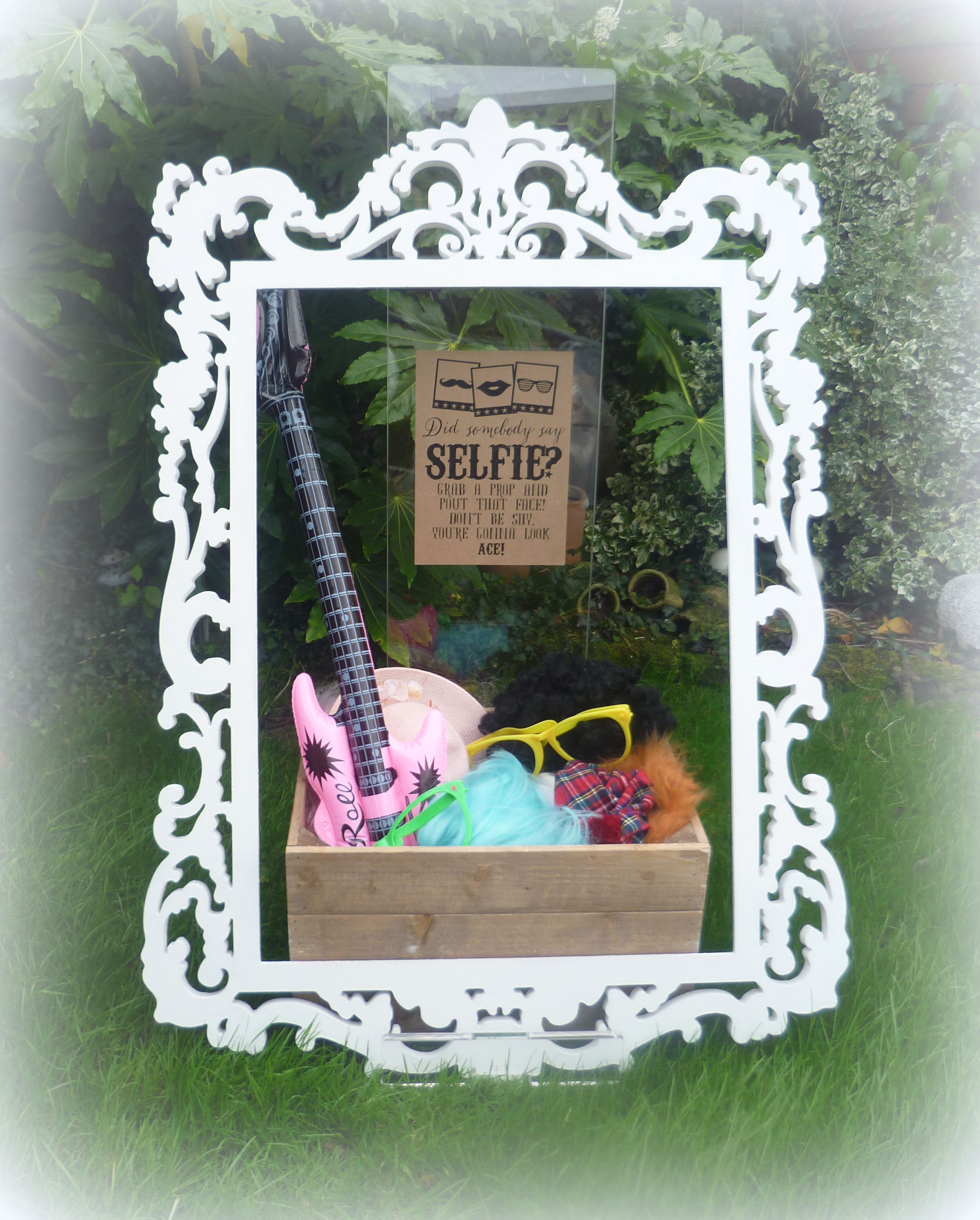 DIY Wedding Party Photobooth Baroque Frame With Props Available To Hire From Thefabricflorist
