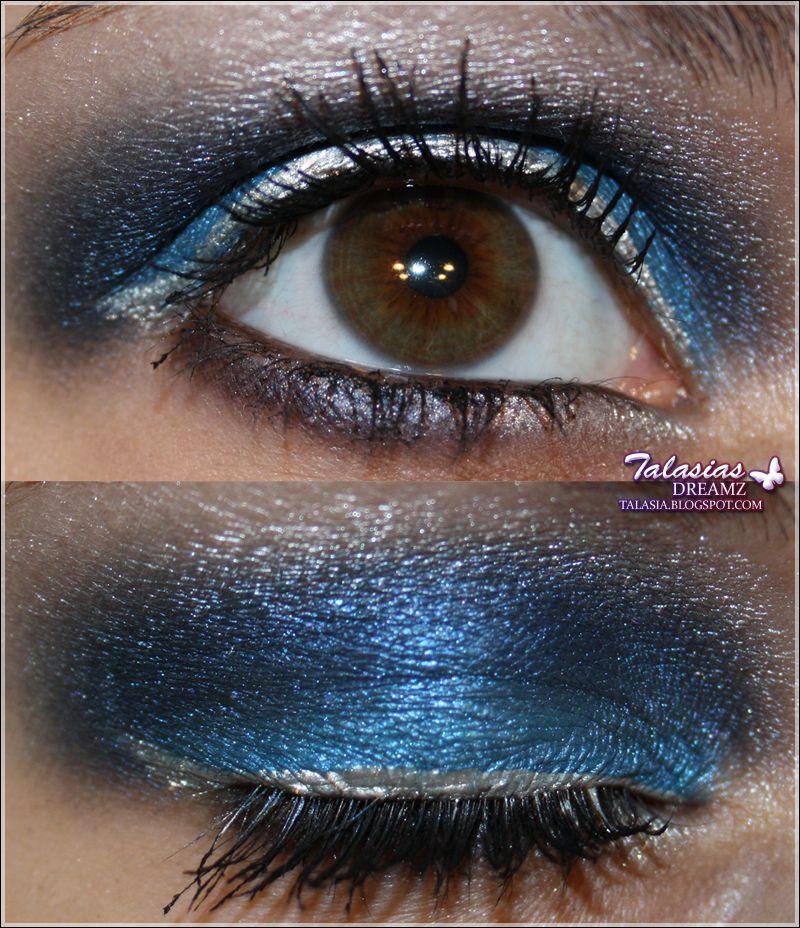 Blue Eye Make Up - Datum: 29.03.2011  http://talasia.blogspot.de/2011/06/amu-p2-sun-city-be-electric-loose-eye.html
