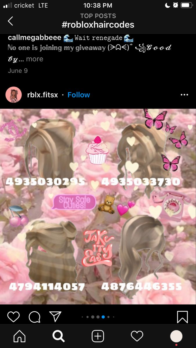 Hair Codes In 2020 Coding Roblox Roblox Codes