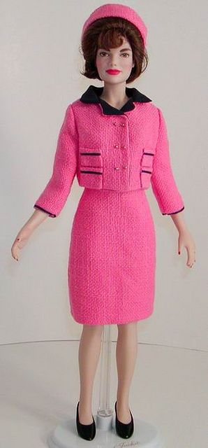 Kennedy In rosa Jackie con blu Dolls Barbie finiture 웃 abito marinoGioca CBedxo