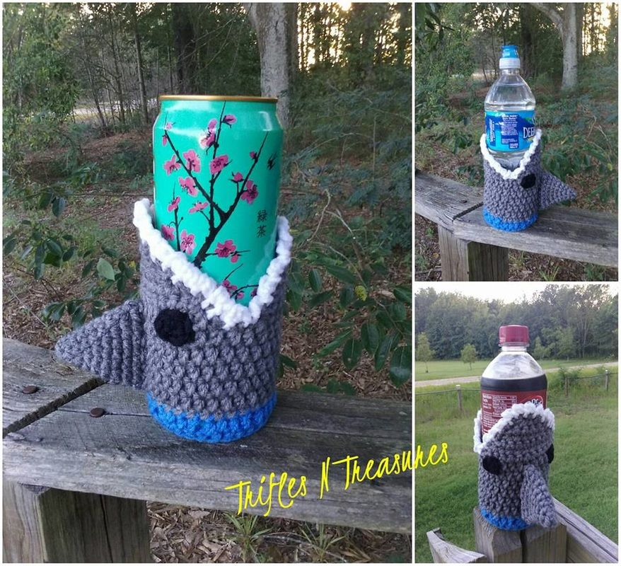 SHARK!Cozy~TriflesNTreasures | crochet | Pinterest | Tejido, León y ...