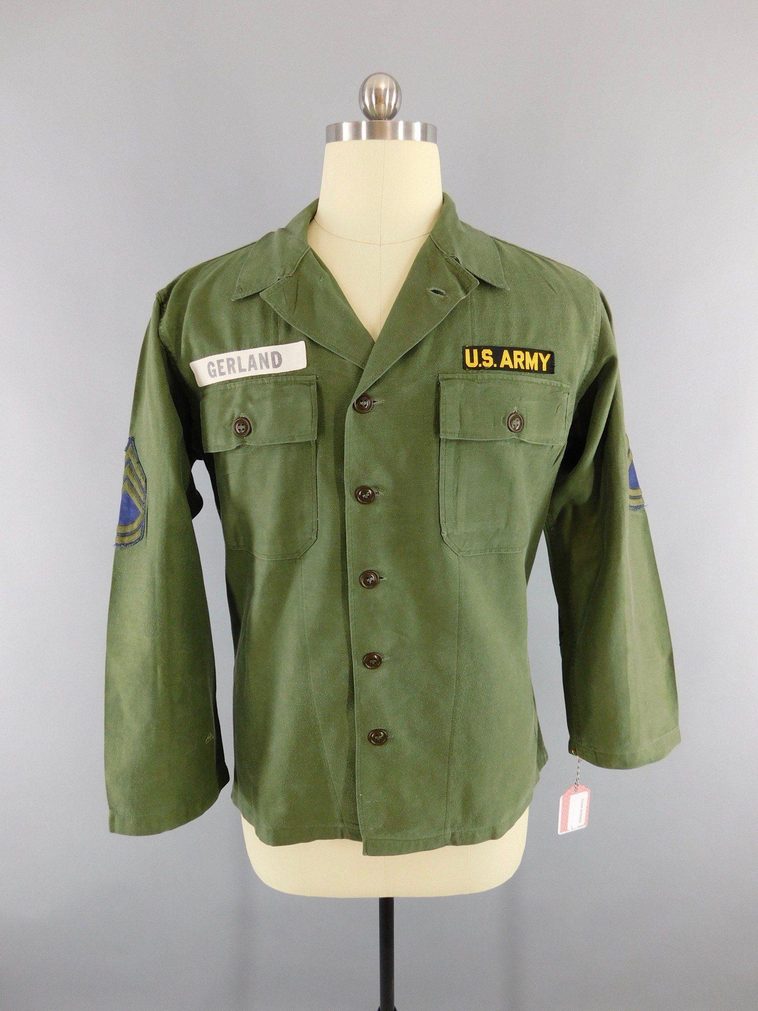 6efd17238 Vintage 1960s Army Shirt   Vietnam War Issue Field Shirt