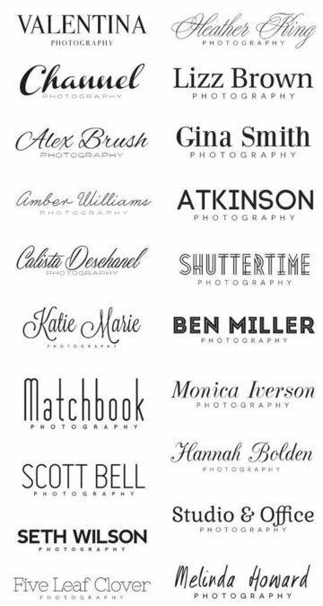Elegir las fuentes de letras para logos una tarea importante