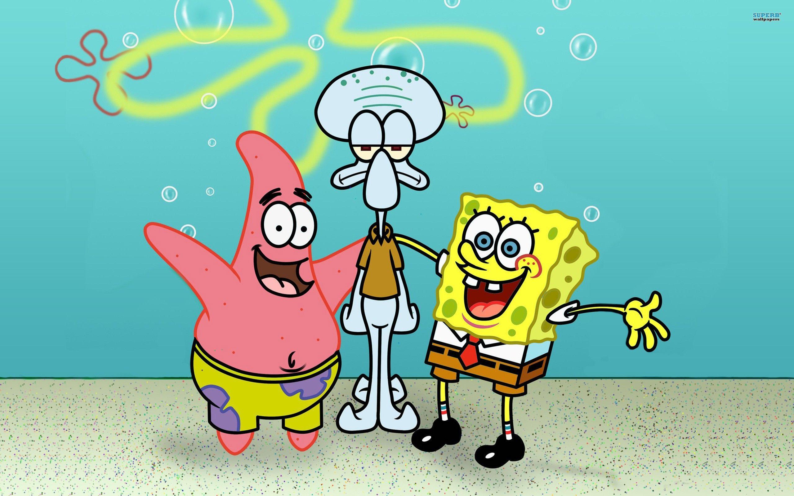 Spongebob Patrick And Squidward (Dengan gambar