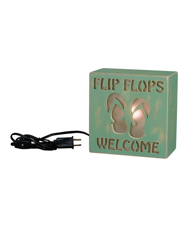 Another great find on #zulily! 'Flip Flops Welcome' Box Night-Light by Primitives by Kathy #zulilyfinds