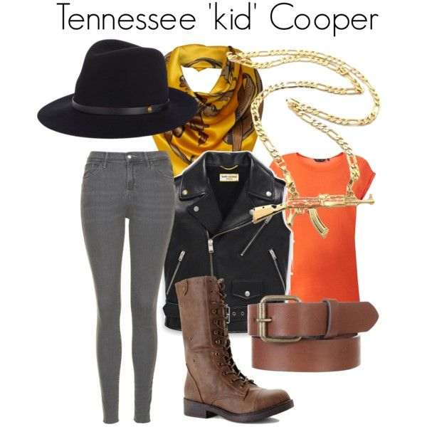 Tennessee 'Kid' Cooper by danielleweaver267 on Polyvore featuring Yves Saint Laurent, Topshop, Madden Girl, rag & bone and Linea