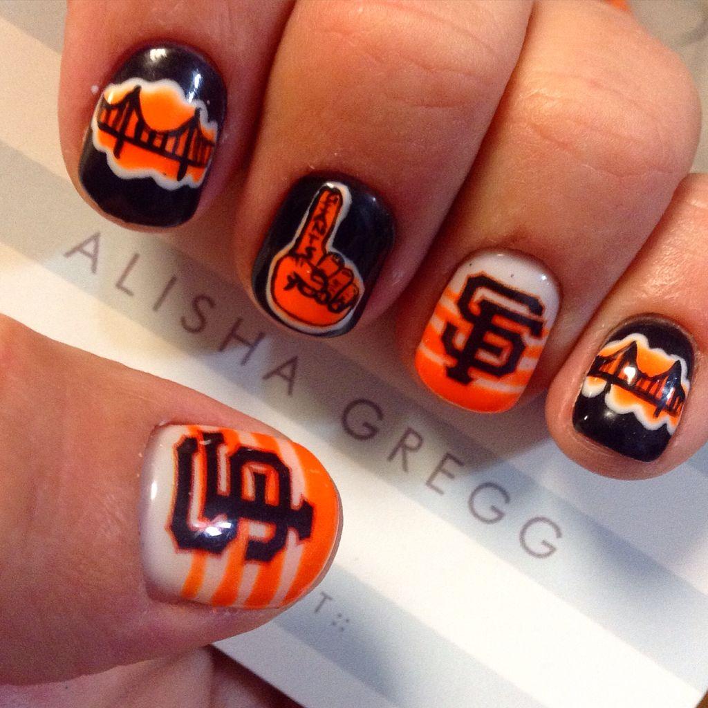 San Francisco Giants nails | ||||||||Gel Nails by Alisha ...