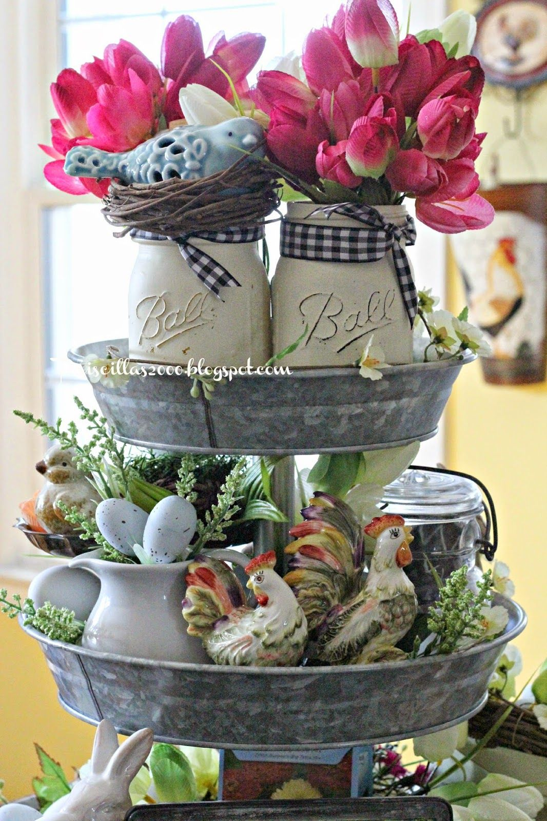 Spring Galvanized Centerpiece