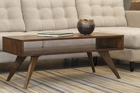 mid century modern coffee table solid