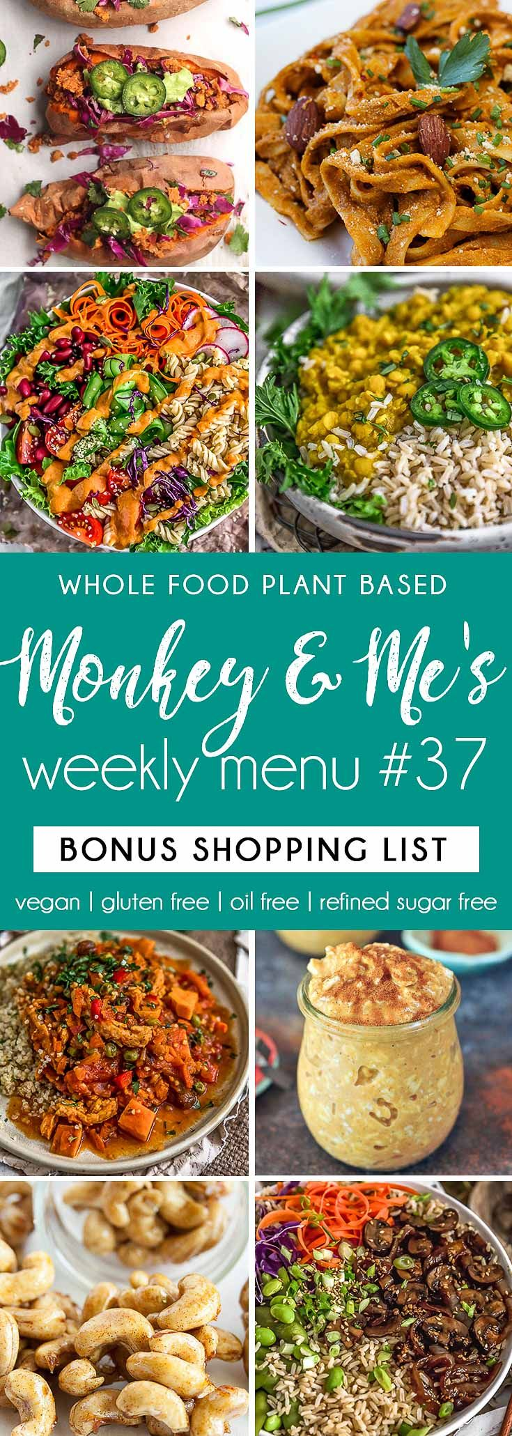 Monkey and Me's Menu 37 -   15 plant based diet Recipes ideas