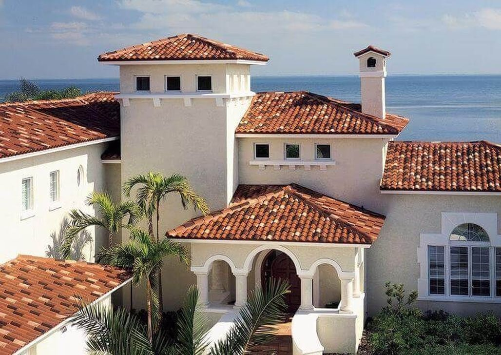 36 Fancy Roof Tile Design Ideas To Try Asap Terracotta Roof House Exterior Paint Colors For House Clay Roof Tiles