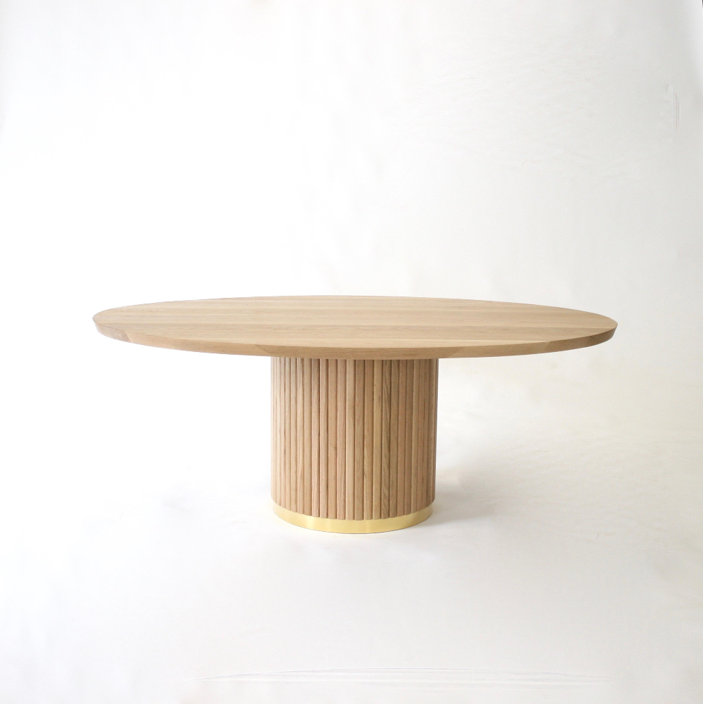 Audubon Pedestal Oak Dining Table