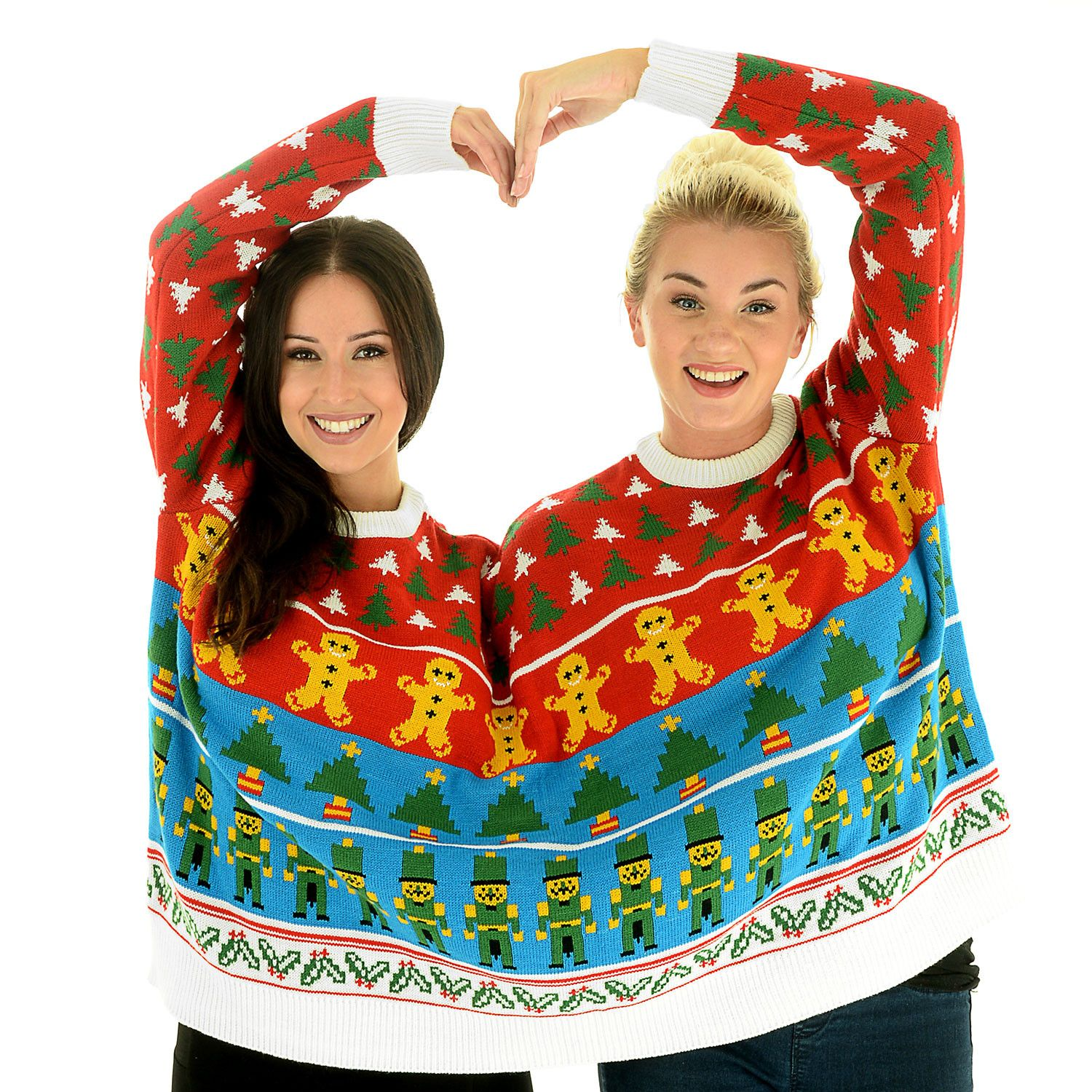 Bff Nutcracker Twosie 2 Person Christmas Sweater Outfits And