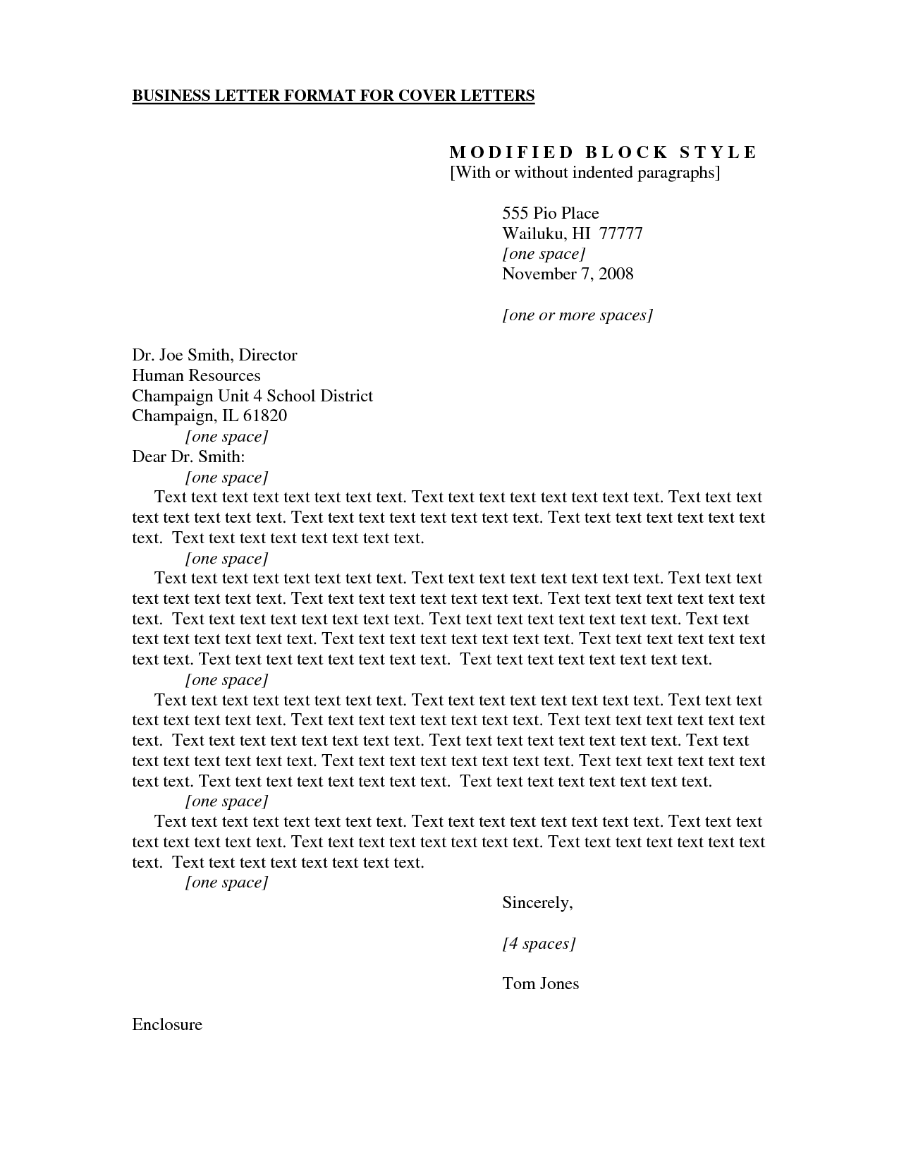 cover business letters
