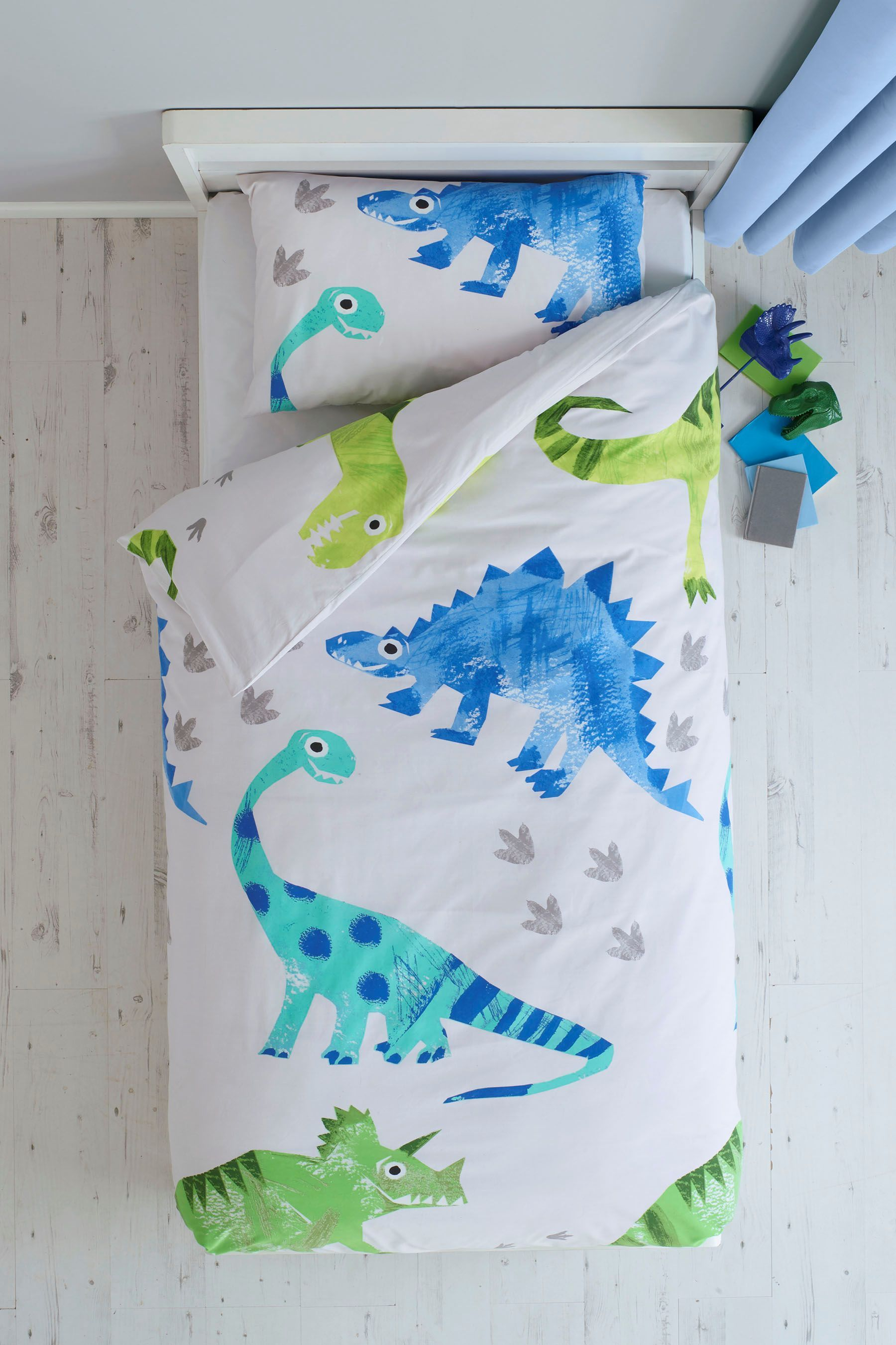69a3c5ee407a Next Ben The Dino Bed Set - Blue | Products in 2019 | Linen bedding ...