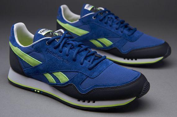 Reebok CL Trail - Mens Select Footwear - Club Blue-Black-Steel-Neon Yellow