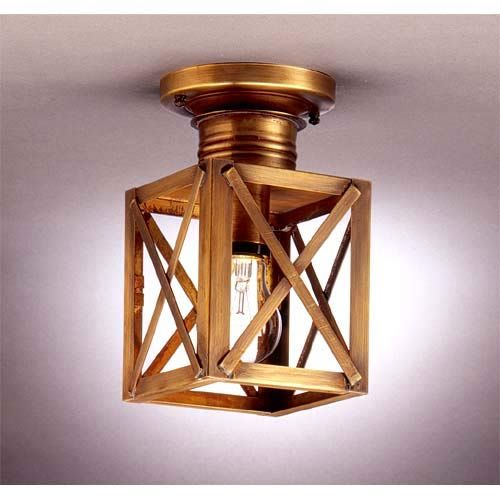 Northeast Lantern Small Antique Copper X Bar Ceiling