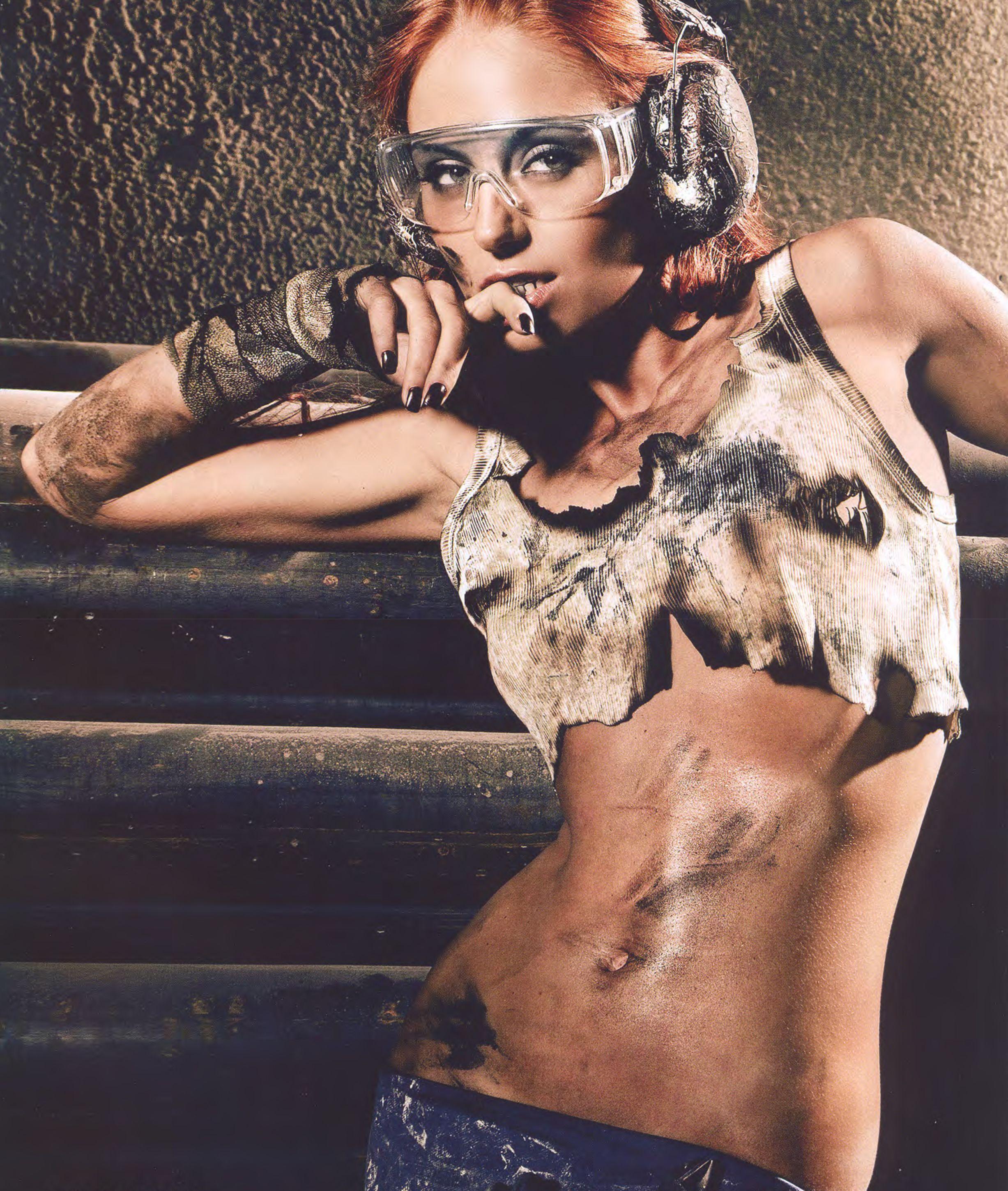 Girl Mechanic Nude pin on mechanic shoot