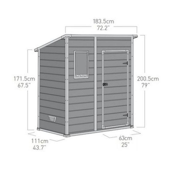 Abri De Jardin En Resine Keter Premium 64 1 6 M Ep 16 Mm Shed Storage Shed Locker Storage
