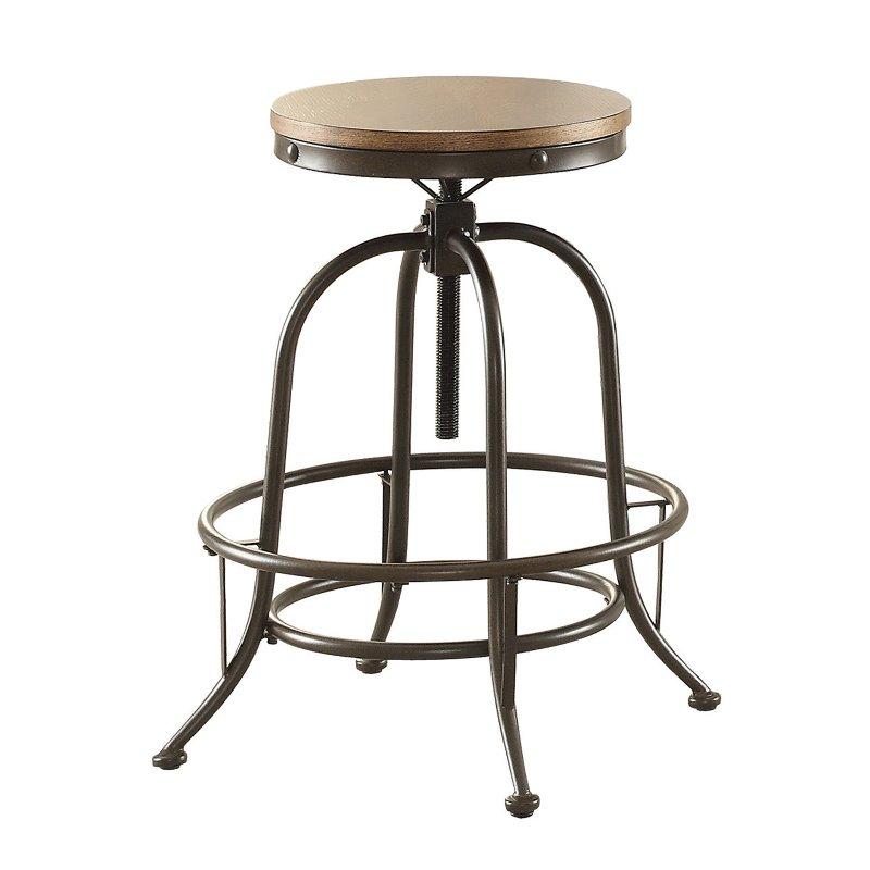 Fine Wood And Metal Adjustable Backless Bar Stool Angstrom Cjindustries Chair Design For Home Cjindustriesco