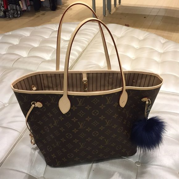 6dd609e231f0 Louis Vuitton neverfull mm Neverfull mm, no pouch. Date code SD4145. Light  patina but has been used. No stains or smells. Hot stamped with CC.