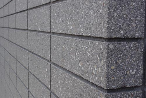 Block Honing Coatings And Flooring Applications For Concrete Concrete Block Walls Wall Exterior Brick Cladding