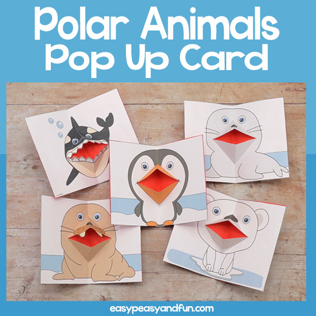 Penguin Pop Up Card Template - Easy Peasy and Fun in 2020 ...