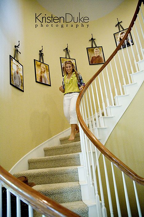 Decorating with Portraits~Up the stairs | Hanging art, Walls and ...