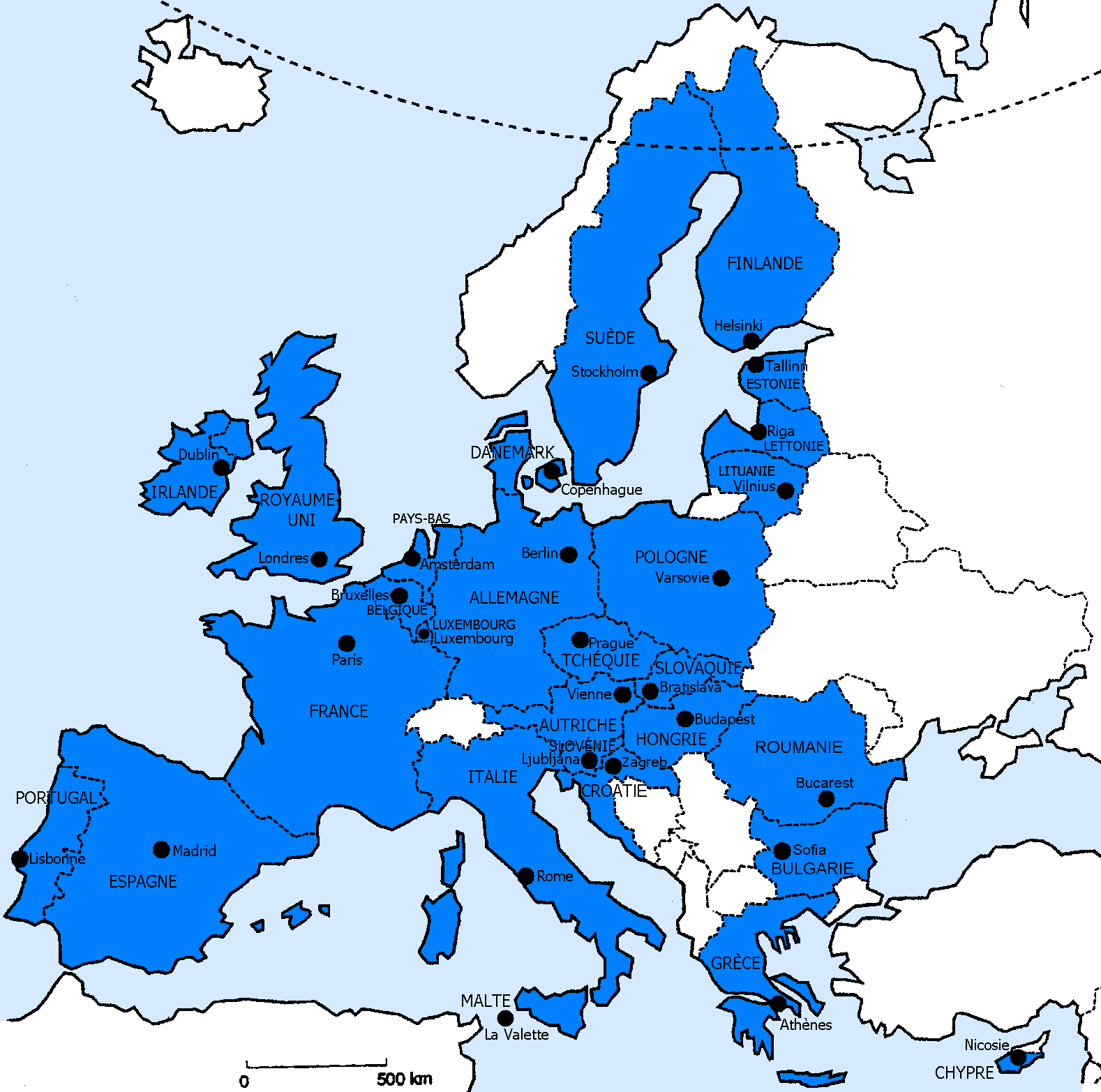 carte europe brevet des colleges