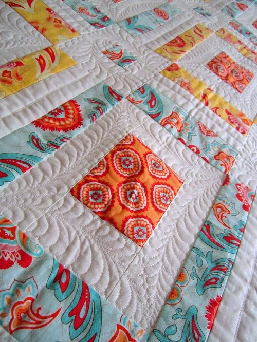 The quilting on this quilt is beautiful.