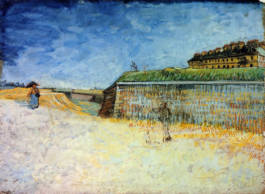 Vincent Van Gogh Fortifications Of Paris With Houses 87 With